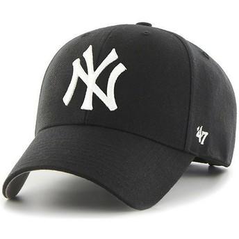 47 Brand Curved Brim Kinder New York Yankees MLB MVP Cap schwarz