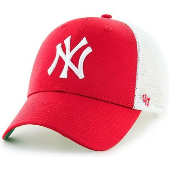 Casquette trucker rouge New York Yankees MLB MVP 47 Brand