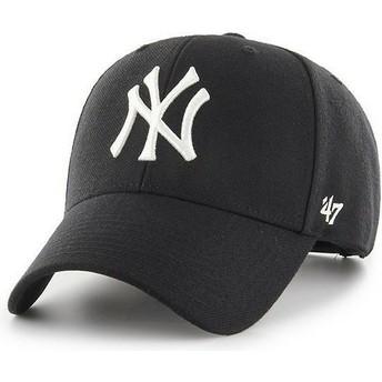 47 Brand Curved Brim New York Yankees MLB MVP Snapback Cap schwarz