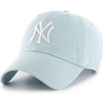 47 Brand Curved Brim New York Yankees MLB Clean Up Cap hellblau
