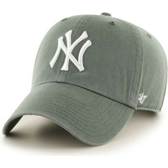 Casquette courbée verte foncé New York Yankees MLB Clean Up 47 Brand