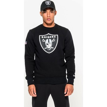 Sweat-shirt noir Crew Neck Oakland Raiders NFL New Era