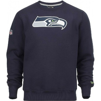 Sweat-shirt bleu Crew Neck Seattle Seahawks NFL New Era