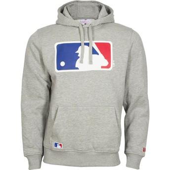 New Era MLB Pullover Hoodie Kapuzenpullover Sweatshirt grau