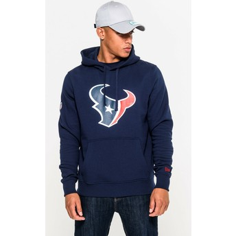 New Era Houston Texans NFL Pullover Hoodie Kapuzenpullover Sweatshirt blau
