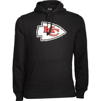 Sweat à capuche noir Pullover Hoodie Kansas City Chiefs NFL New Era