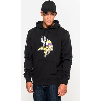 Sweat à capuche noir Pullover Hoodie Minnesota Vikings NFL New Era