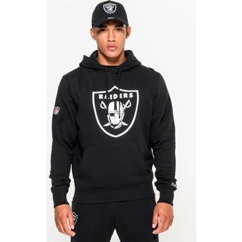 Sweat à capuche noir Pullover Hoodie Las Vegas Raiders NFL New Era