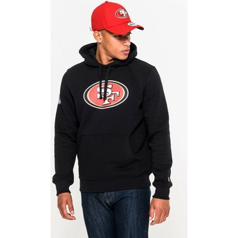 Sweat à capuche noir Pullover Hoodie San Francisco 49ers NFL New Era