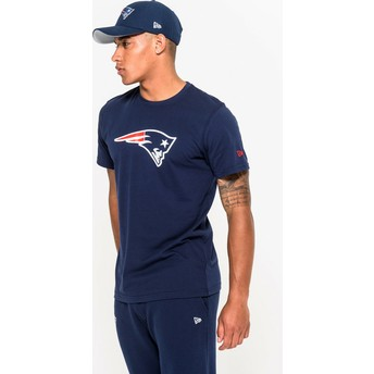 T-shirt à manche courte bleu New England Patriots NFL New Era