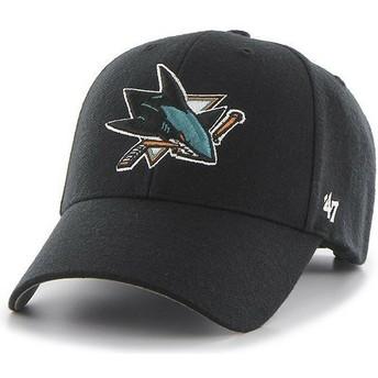 47 Brand Curved Brim San Jose Sharks NHL MVP Cap schwarz