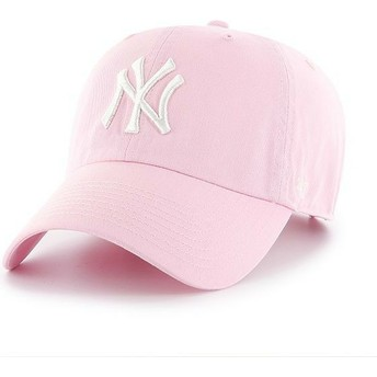 Casquette courbée rose claire New York Yankees MLB Clean Up 47 Brand