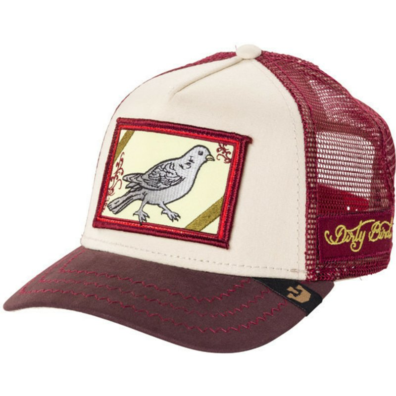 casquette-trucker-grenat-oiseau-dirty-bird-goorin-bros
