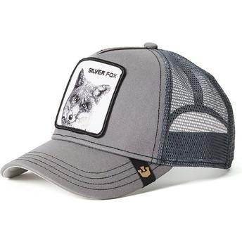 Casquette trucker grise renard Silver Fox Goorin Bros.