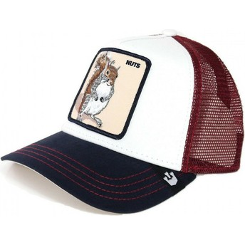 Goorin Bros. Squirrel Bonkers Trucker Cap weiß und rot
