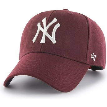 47 Brand Curved Brim New York Yankees MLB MVP Snapback Cap Granat