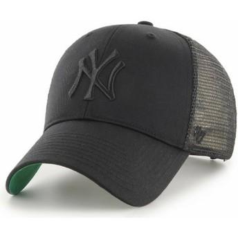 47 Brand Schwarzes Logo New York Yankees MLB MVP Branson Trucker Cap schwarz