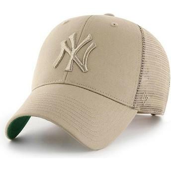 Casquette trucker beige avec logo beige New York Yankees MLB MVP Branson 47 Brand