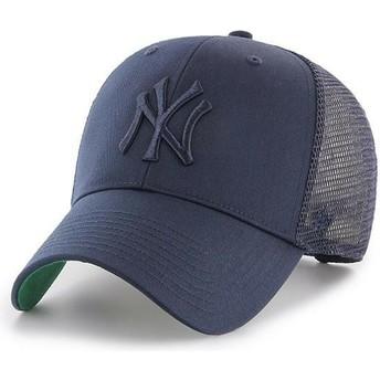 Casquette trucker bleue marine avec logo bleue marine New York Yankees MLB MVP Branson 47 Brand