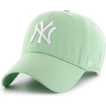 47 Brand Curved Brim New York Yankees MLB Clean Up Cap hellgrün