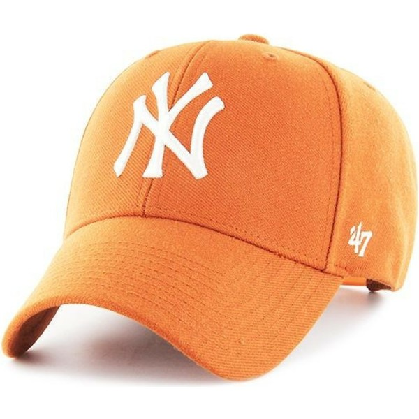 casquette-courbee-orange-snapback-new-york-yankees-mlb-mvp-47-brand