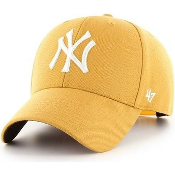 Casquette courbée jaune snapback New York Yankees MLB MVP 47 Brand