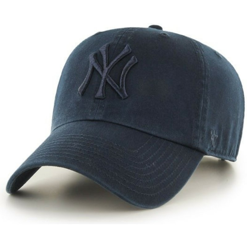 casquette-courbee-bleue-marine-avec-logo-bleu-marine-new-york-yankees-mlb-clean-up-47-brand