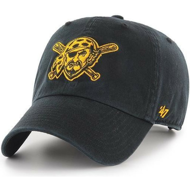 casquette-courbee-noire-avec-logo-pirate-pittsburgh-pirates-mlb-clean-up-47-brand