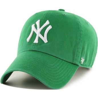 47 Brand Curved Brim New York Yankees MLB Clean Up Cap grün