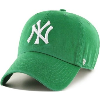 Casquette courbée verte New York Yankees MLB Clean Up 47 Brand