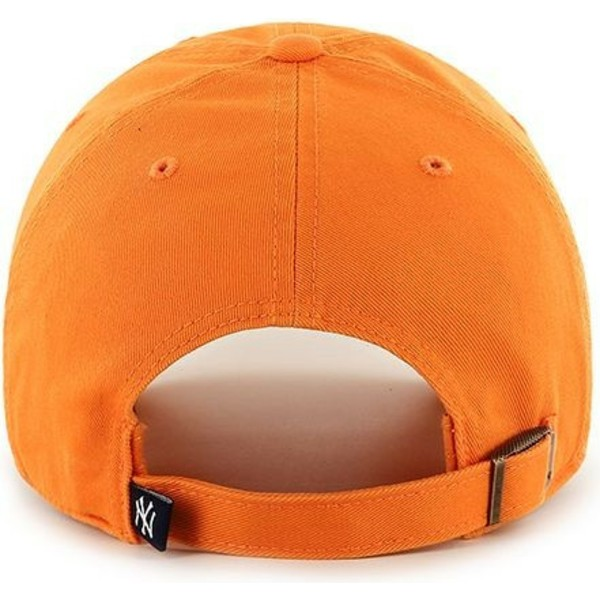 casquette-courbee-orange-vibrant-new-york-yankees-mlb-clean-up-47-brand
