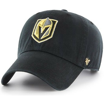 Casquette courbée noire Vegas Golden Knights NHL Clean Up 47 Brand