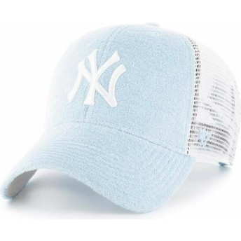 Casquette trucker bleue claire New York Yankees MLB MVP Weatherbee 47 Brand
