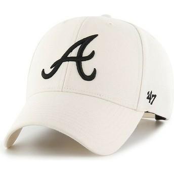 47 Brand Curved Brim Atlanta Braves MLB MVP Snapback Cap beige