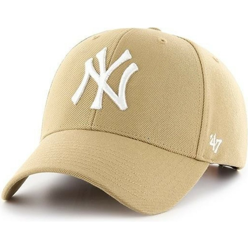 casquette-courbee-jaune-or-vieux-snapback-new-york-yankees-mlb-mvp-47-brand