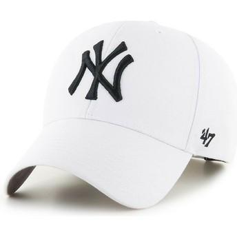 47 Brand Curved Brim New York Yankees MLB MVP Snapback Cap weiß
