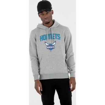 Sweat à capuche gris Pullover Hoody Charlotte Hornets NBA New Era