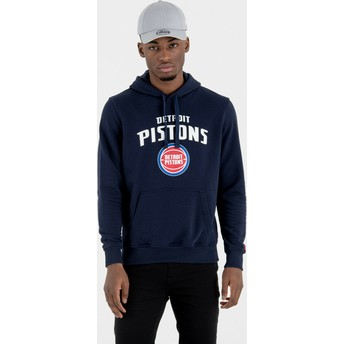 New Era Detroit Pistons NBA Pullover Hoodie Kapuzenpullover Sweatshirt marineblau