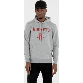 Sweat à capuche gris Pullover Hoody Houston Rockets NBA New Era