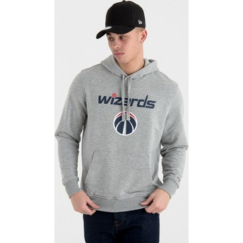 New Era Washington Wizards NBA Pullover Hoodie Kapuzenpullover Sweatshirt grau