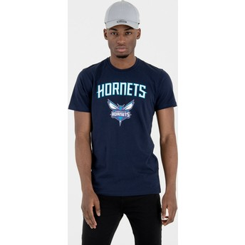 T-shirt à manche courte bleu marine Charlotte Hornets NBA New Era