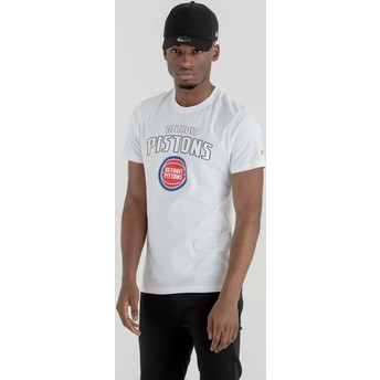 New Era Detroit Pistons NBA T-Shirt weiß
