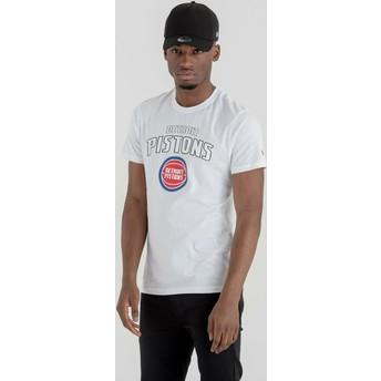 T-shirt à manche courte blanc Detroit Pistons NBA New Era