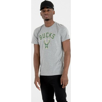 New Era Milwaukee Bucks NBA T-Shirt grau