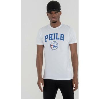 T-shirt à manche courte blanc Philadelphia 76ers NBA New Era