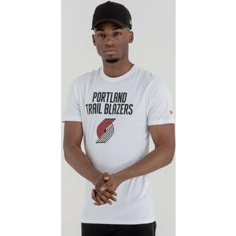 T-shirt à manche courte blanc Portland Trail Blazers NBA New Era