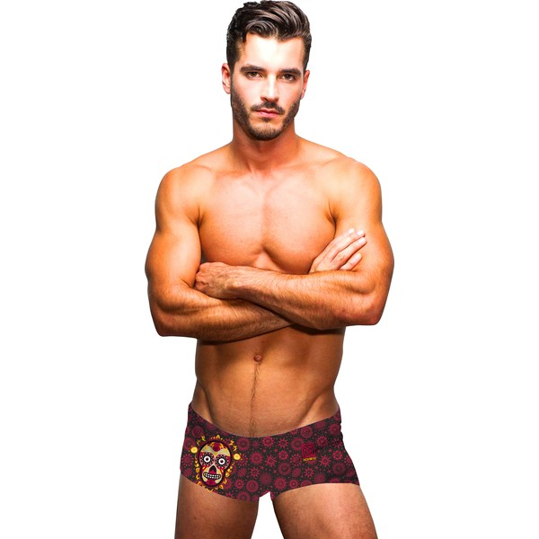 short-de-bain-rouge-pour-homme-mexico-yucatan-shorty-nonbak