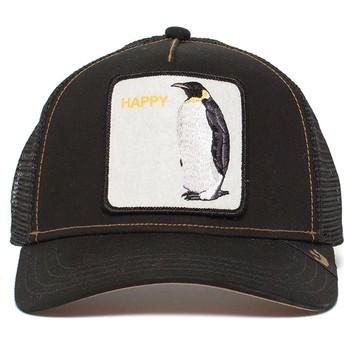 Casquette trucker noire pingouin Waddler Goorin Bros.