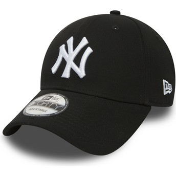 Casquette courbée noire ajustable 9FORTY Essential New York Yankees MLB New Era