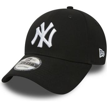 New Era Curved Brim 9FORTY Essential New York Yankees MLB Adjustable Cap schwarz